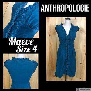 size 4 Anthro Maeve corduroy dress